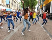 brit school flash mob