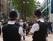 police in the town centre