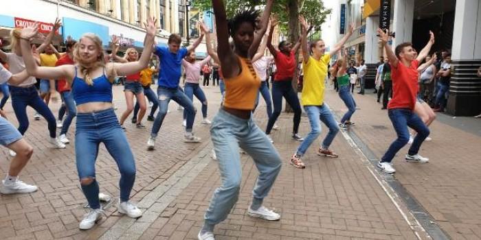 brit school flash mob