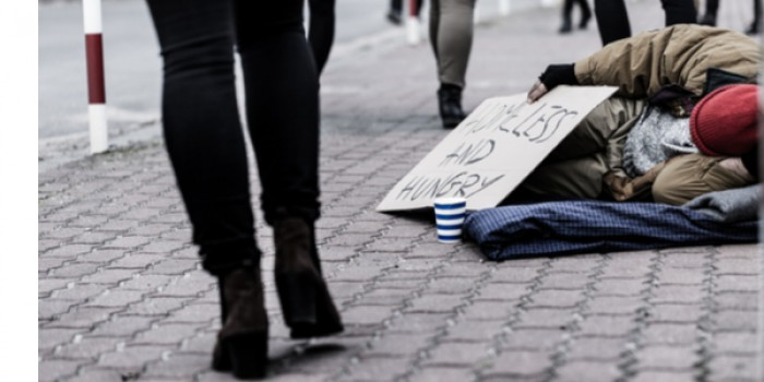 image of homeless person